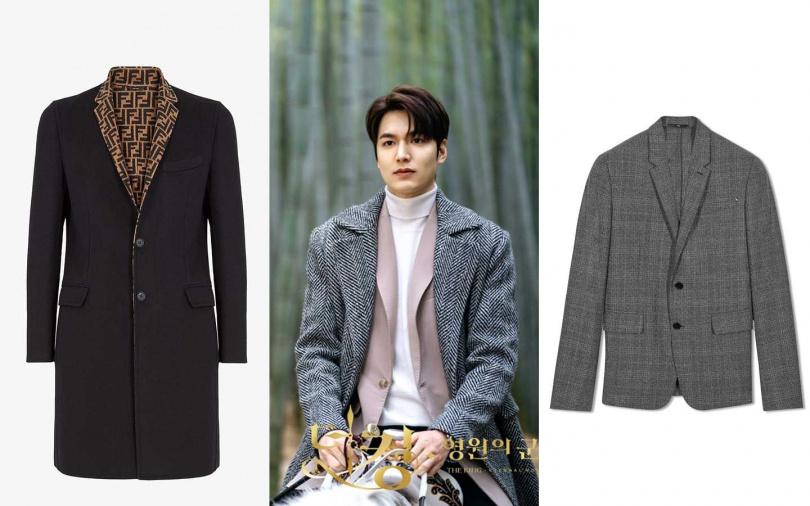 FENDI黑色羊毛外套/價格未定、Berluti初剪羊毛灰色格紋西裝外套/88,500元(圖/翻攝網路、品牌提供)