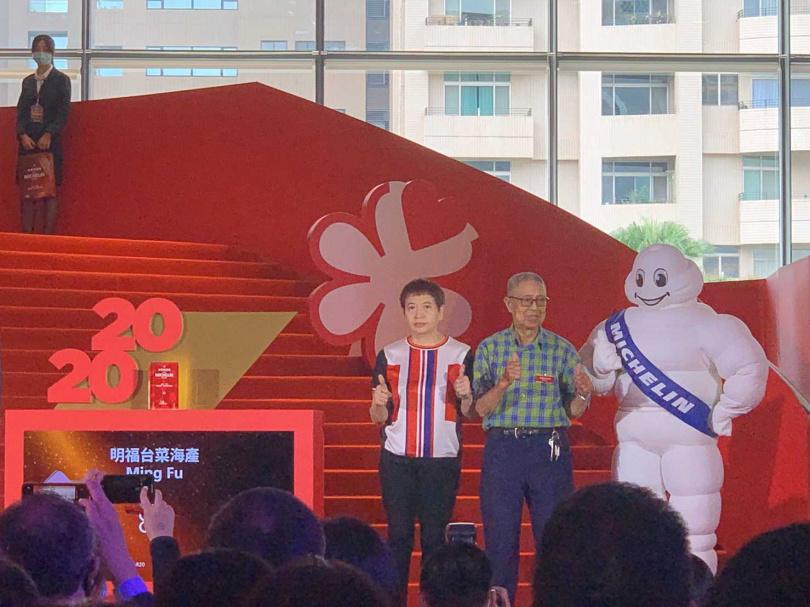 明福台菜老闆今年首次出席頒獎典禮。(圖/官其蓁攝)