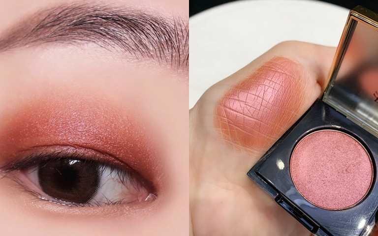 圖/小編個人大推今年秋冬大流行的#5紅棕色,大膽一點的女孩可以直接單擦暈塗,初嘗試的女孩把它點綴在眼尾、下眼際也很好看。(圖/IG@autumn_cosy、吳雅鈴攝影)