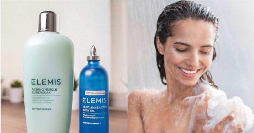 從沐浴開始使用的就是具有肌肉舒緩效用的ELEMIS超級肌肉浸泡液。(圖/品牌提供、翻攝網路)