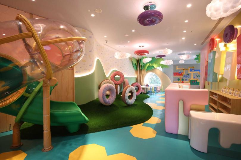 雲品溫泉酒店打造適合3至7歲小朋友的專屬空間「VIK Kids Land」。(圖/雲朗觀光集團提供)