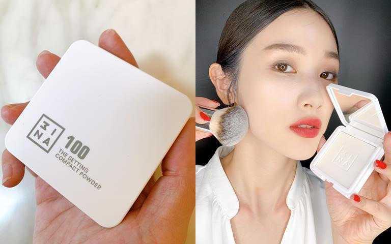 3INA超柔焦透明蜜粉餅12.5g/850元出門在外,妳必須要用它幫毛孔柔焦、隱藏肌膚瑕疵,讓底妝質感大開外掛!(圖/吳雅鈴攝影)