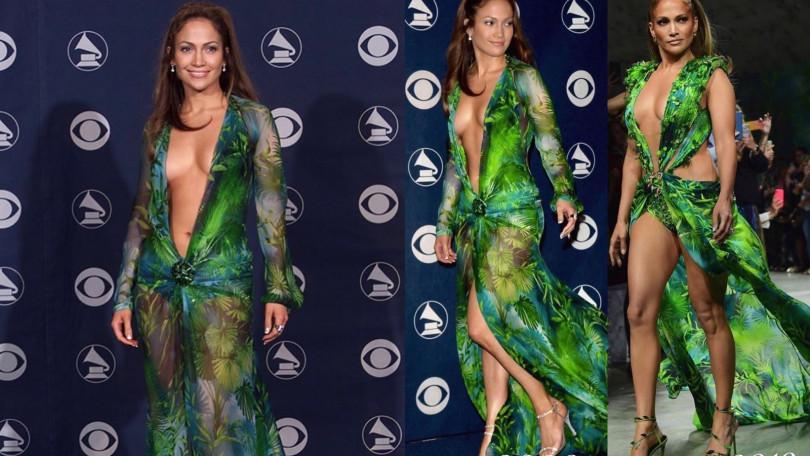 20年對照,J. Lo好身材絲毫不減更多了屬於天后的霸氣!(圖/翻攝自IG @recordingacademy、@thecatwalklatinoamerica)