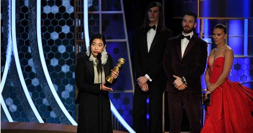 奧卡菲娜是金球首位亞裔女演員得獎。(圖/達志/美聯社)