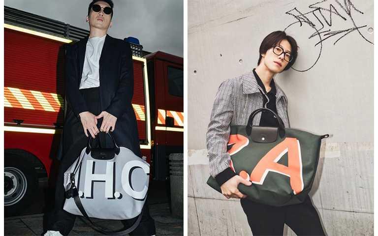 日本男模淺利琳太郎、台灣知名部落客郝慧川,中性包款男生拿也很時髦。(圖/rintaro_asari IG,haohuichuan IG)
