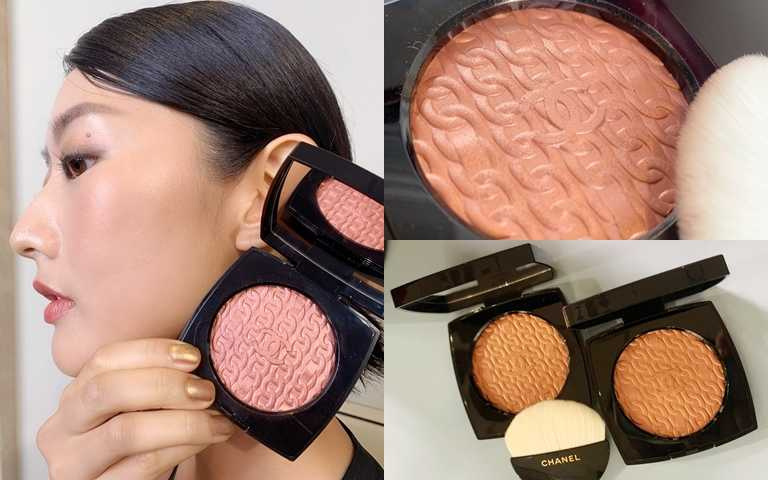 香奈兒經典鏈帶頰彩盤8g/2,270元聚光效果的粉紅金色頰彩。(圖/吳雅鈴攝影)