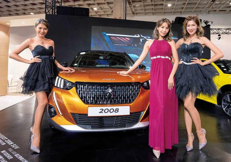 去年的台北車展上,PEUGEOT 2008首次在亞洲登場。(圖/業者提供)