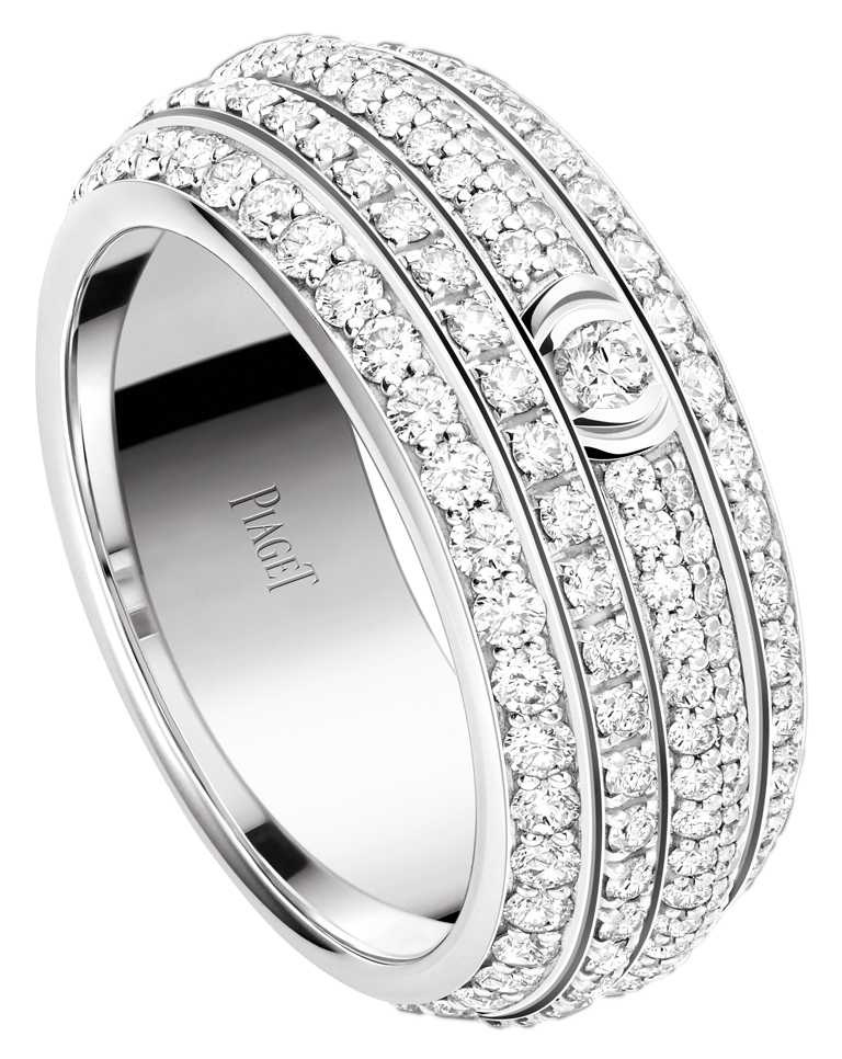 PIAGET「Possession」系列,18K白金鑽石戒指╱560,000元。(圖╱PIAGET提供)