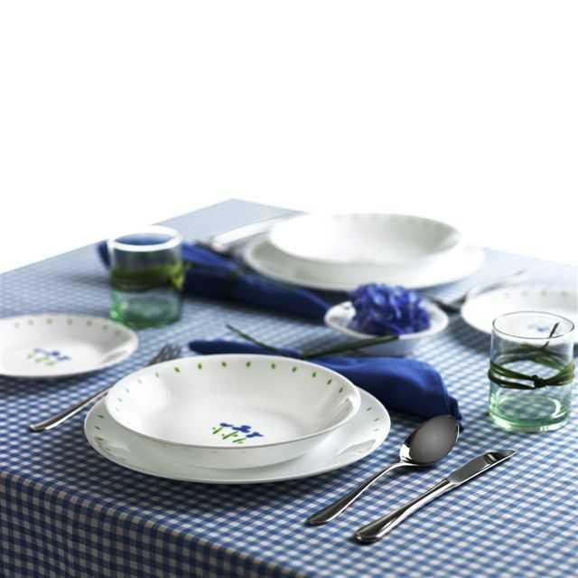 「微笑三色堇碗盤組」零毛孔的特殊結構,能防止細菌侵襲、清潔劑殘留。