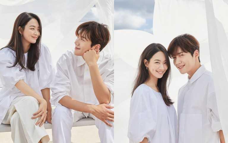 NETFLIX推出最新韓劇《海岸村恰恰恰》,女神申敏兒搭檔帥氣金宣虎。(圖/NETFLIX)