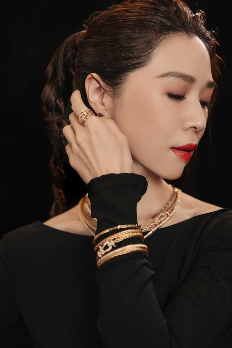 FRED「Force 10」高級珠寶系列作品,完美彰顯金馬影后謝盈萱的美麗氣度。(圖╱FRED提供)