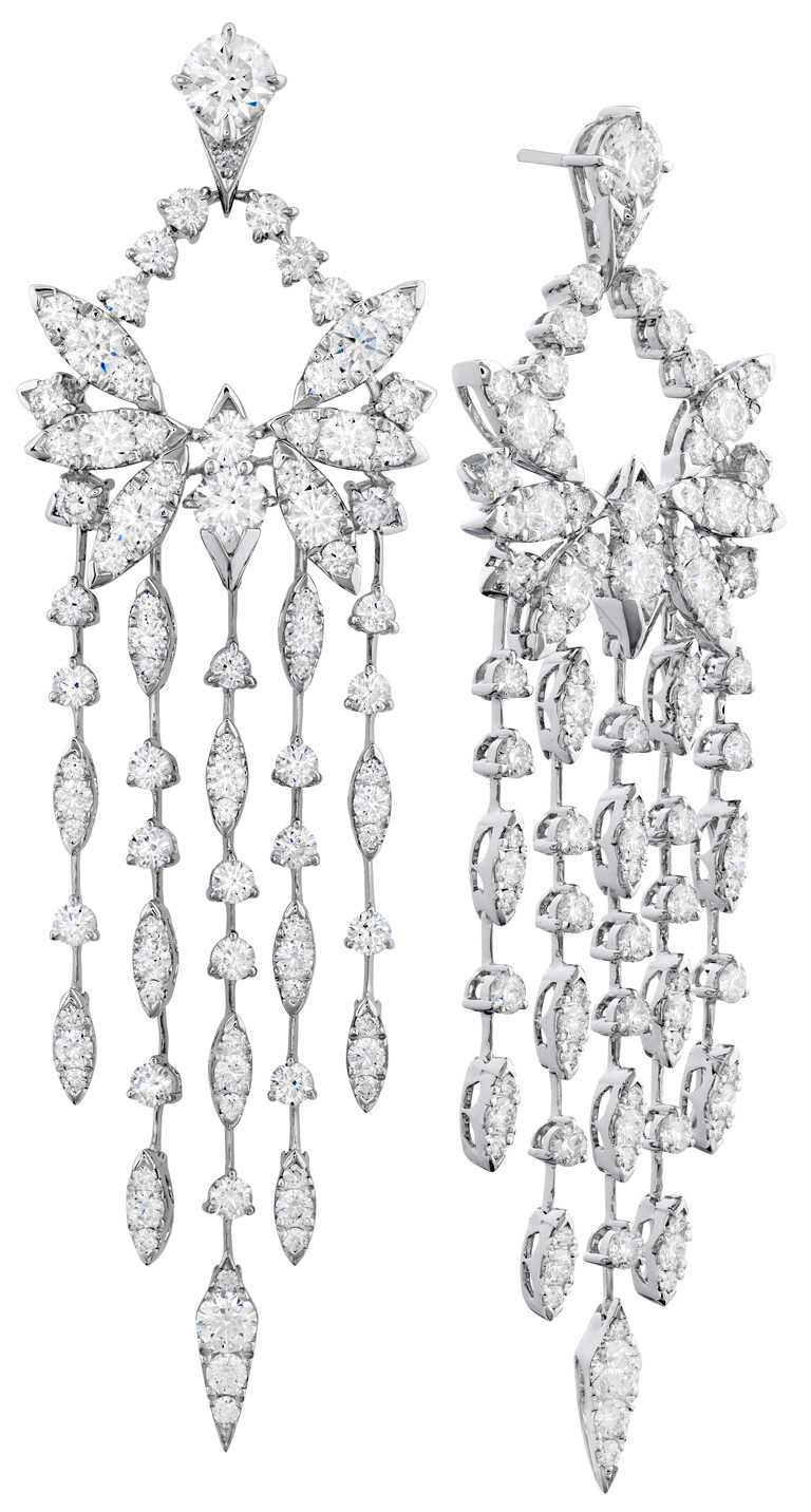 HEARTS ON FIRE「White Kites」系列,白K金鑽石耳環╱2,600,000元。(圖╱HEARTS ON FIRE提供)
