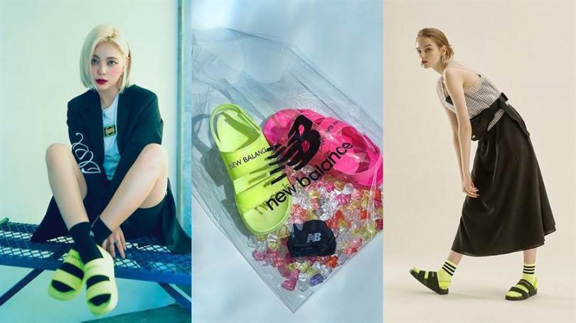 韓國new balance的運動涼鞋是今夏穿搭中相當有話題的款式/圖片來源:ig_nblifestyle_kr