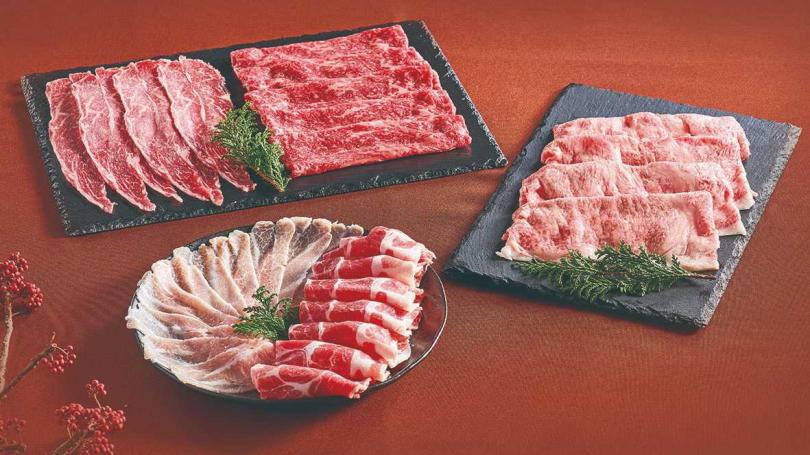 五福迎春肉品禮盒。 (圖/美福食集提供)