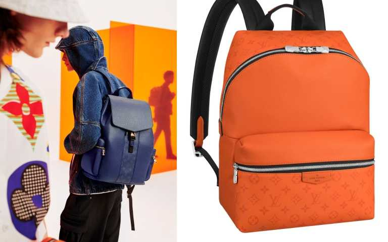 (左) LOUIS VUITTON Taigarama Outdoor Backpack/109,000元。(右) Discovery BackpackTaigarama Vulcano男士手袋/77,500元(圖/品牌提供)