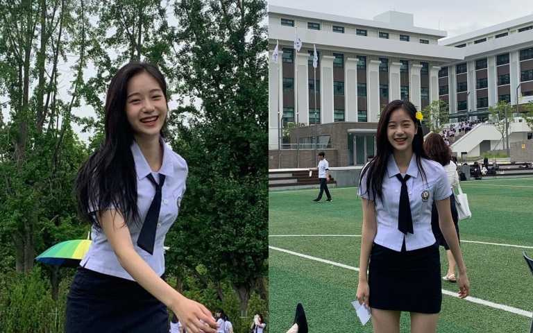 曹承希小姐姐其實才剛高中畢業,目前畢業照也引發討論,在學校更是校花、女神級人物,栓校服美翻了!(圖/ Jo Seung Hee   IG)