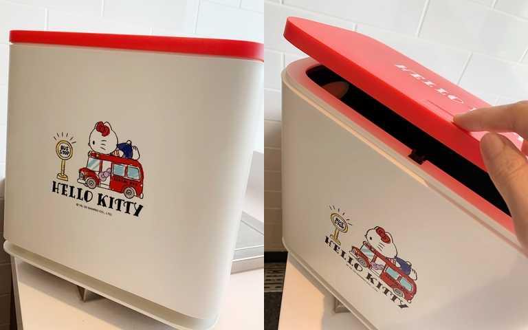 「清空空分類垃圾桶」是採按壓方式打開很方便。(圖/吳雅鈴攝影)