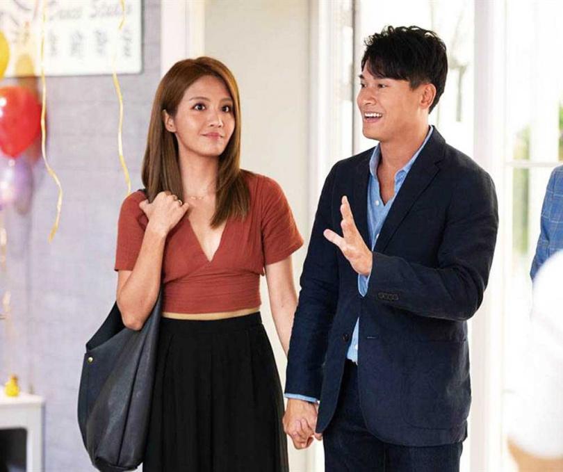 在《女力報到》系列電視劇中,王建復和李宣榕飾演情侶。(圖/TVBS提供)