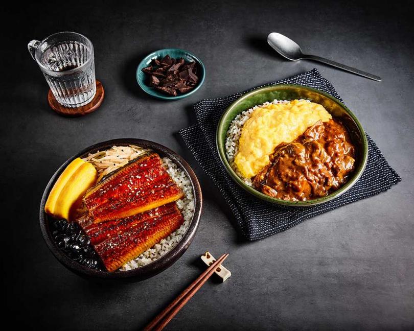自有品牌「匠魂製作」主打日式咖哩鰻魚飯。(圖/Just Kitchen提供)
