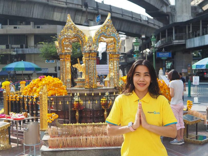 宅在家也能線上參拜泰國曼谷四面佛祈福還願。(圖/ KLOOK)