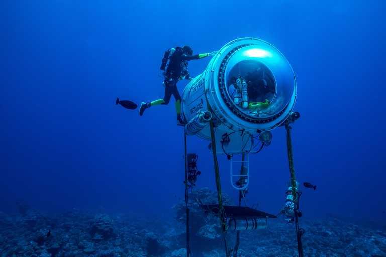 吉斯蘭.巴杜(Ghislain Bardout)研發出一種特殊潛水艙,為保護海洋收集更多關鍵數據。(圖╱ROLEX提供)