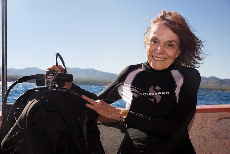 傳奇海洋學家兼勞力士代言人席薇亞.厄爾(Sylvia Earle),同時也是「藍色使命」(Mission Blue)計劃創辦人。(圖╱ROLEX提供)