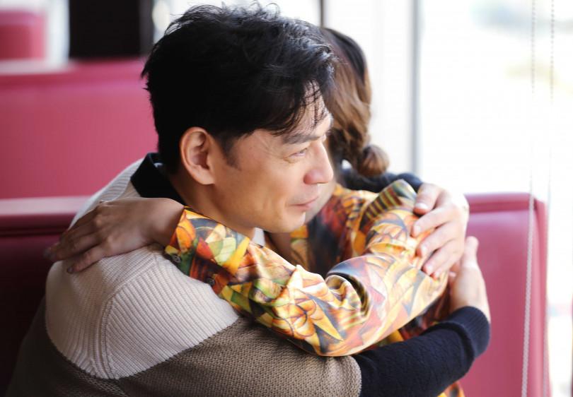 阿Ken在訪問時,不斷稱讚紀培慧,也謝謝她對電影的付出。(圖/施岳呈攝)