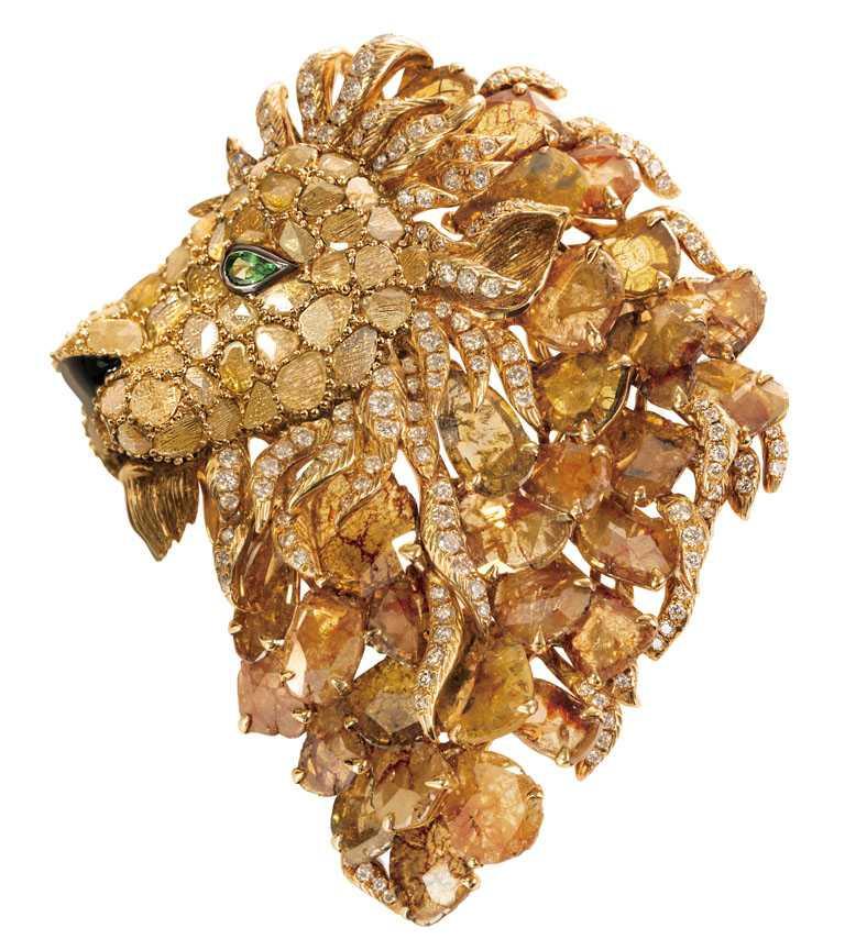 JHENG Jewellery「極致鑽片」系列,「王者風範1號」作品╱1,738,000元。(圖╱JHENG Jewellery提供)