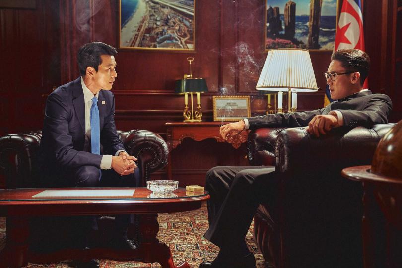 鄭雨盛和柳演錫兩大男神分別飾演南北韓元首。(圖/甲上提供)
