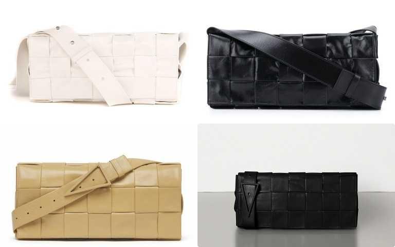 上排:編織紙質小牛皮斜背包/61,300元、下排:編織紙質小牛皮腰包/61,100元(圖/品牌提供)