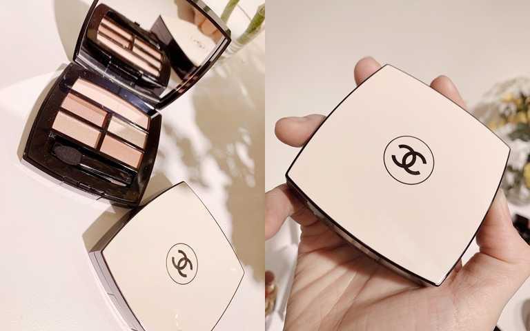強調自然系妝感的五色組合香奈兒時尚裸光立體眼彩盤,售價2,570元。(圖/吳雅鈴攝影)