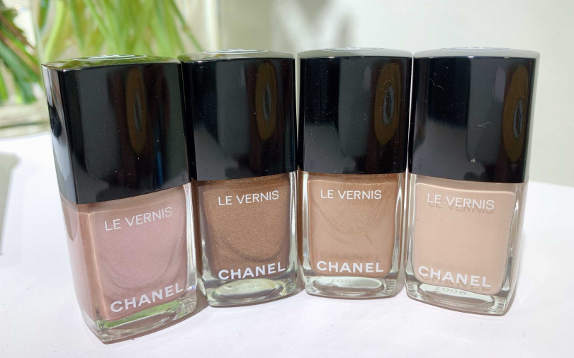香奈兒時尚恆采指甲油時尚裸光系列4色,售價各900元。(圖/吳雅鈴攝影)