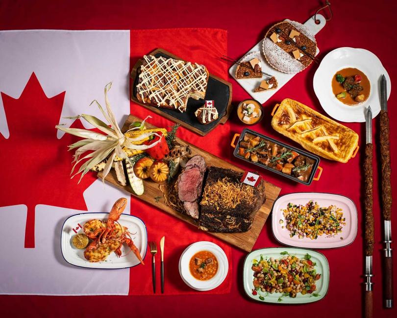 「加拿大美食嘉年華」主題美食活動。(圖/香格里拉台北遠東國際大飯店提供)
