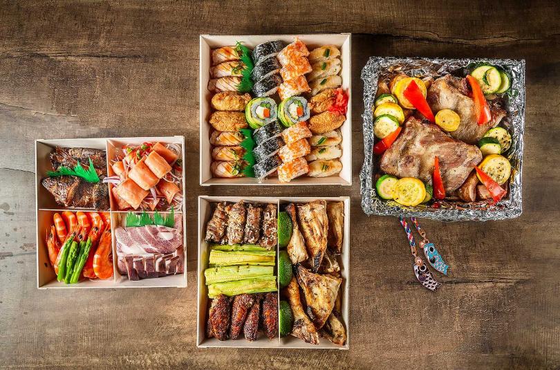 欣葉日本料理特別針對家庭推出可外帶的「旬彩和食四重盛」6人分享餐。(每套3,200元)(圖/欣葉國際餐飲提供)