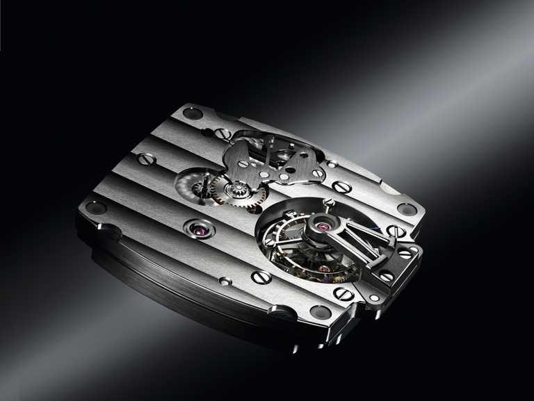 BREGUET「Heritage Grand Complication」18K玫瑰金陀飛輪腕錶型陀飛輪,搭載187H型陀飛輪機芯,2008年。(圖╱BREGUET提供)