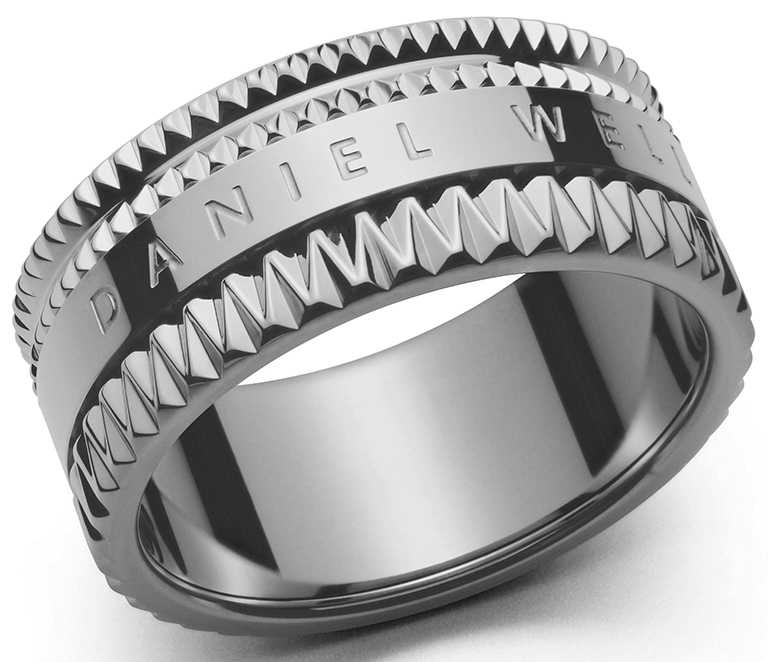 DW「Elevation」系列,極光銀戒指╱1,990元。(圖╱Daniel Wellington提供)