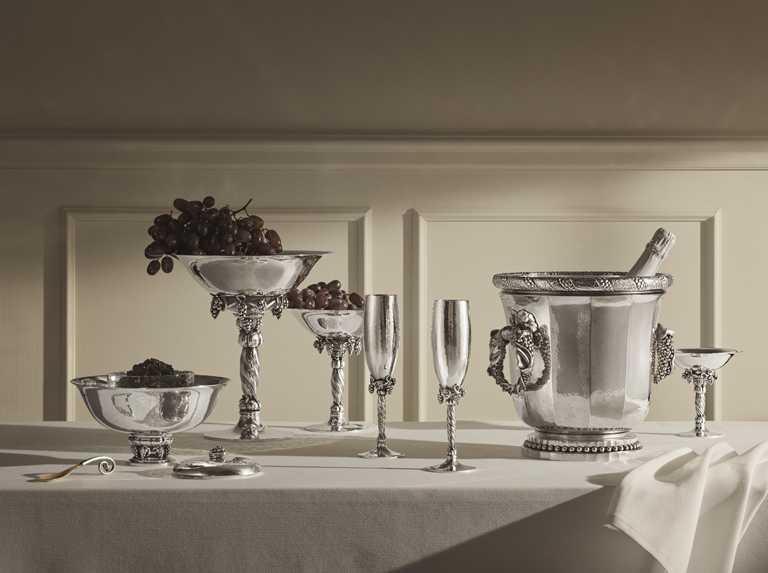 喬治傑生2021「銀雕藝作」新品,優雅體現實用與美學兼具的生活理念。(圖╱GEORG JENSEN提供)
