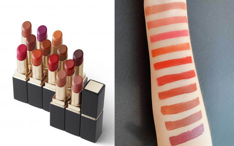 SUQQU晶采柔艷唇膏 3.7g/1,900元  在經典10色中,幾乎都是超級實用的橘紅棕色調,難怪在日本已經成為許多OL的指名購買唇膏。(圖/品牌提供、吳雅鈴攝)