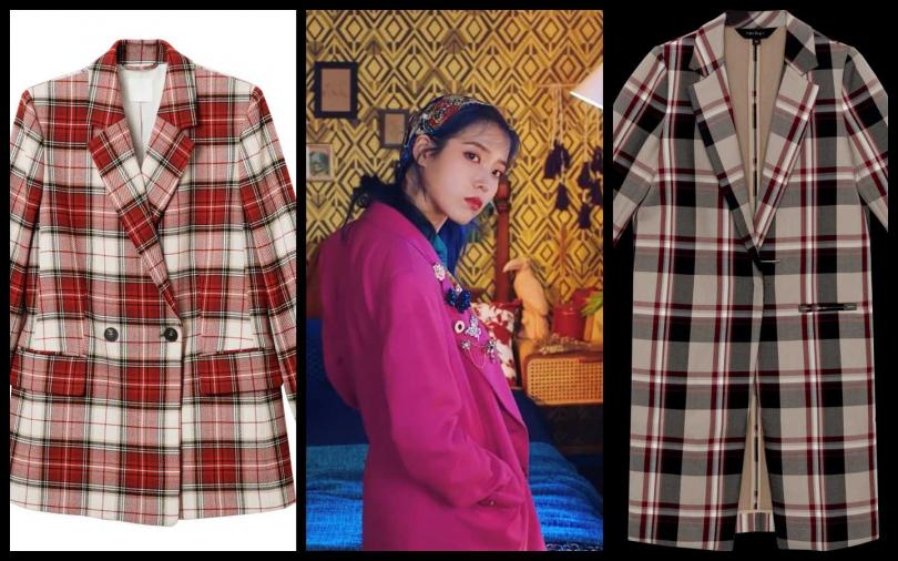 編輯推薦 (左)H&M Holiday 2019 全新假日系列格子西裝外套/1,499元 (右)rather英倫格紋大衣/8,980 元