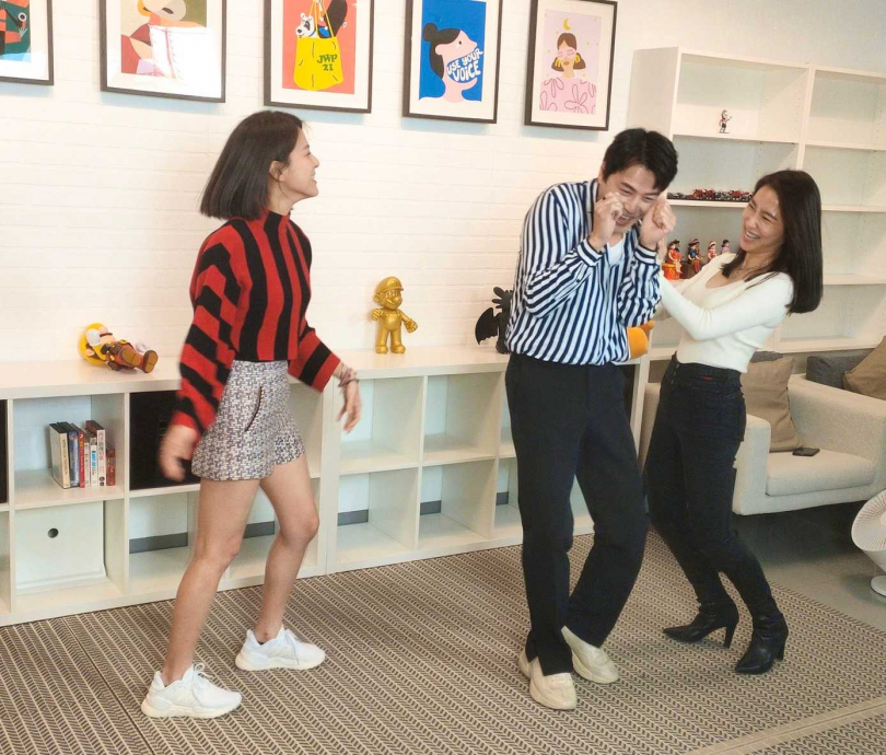 黃文星、蘇晏霈、張家瑋在民視八點檔《多情城市》中上演虐心三角戀 。(圖/民視提供)