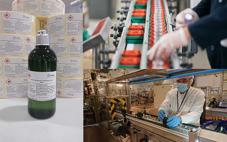 法國歐舒丹集團投入新冠肺炎防疫!工廠轉生產乾洗手全力以赴支持醫護人員。(圖/L'OCCITANE提供)