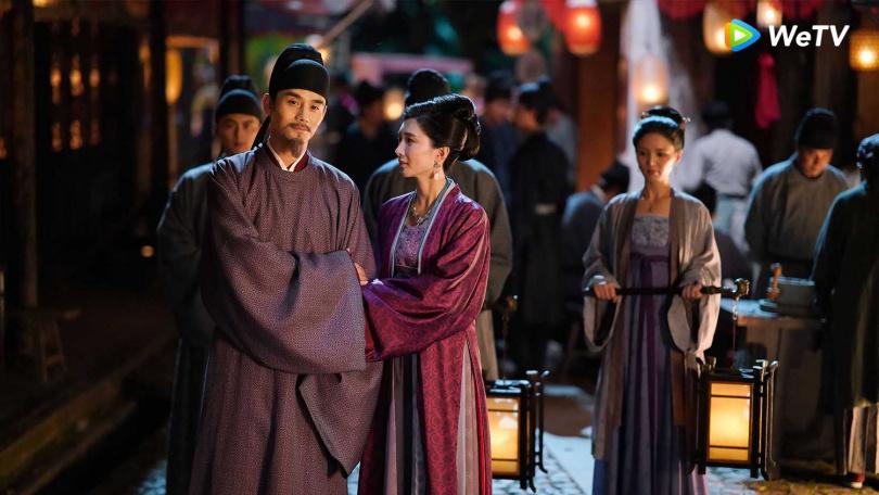 王凱(左)與江疏影主演WeTV《清平樂》播出完結篇。(圖/WeTv)
