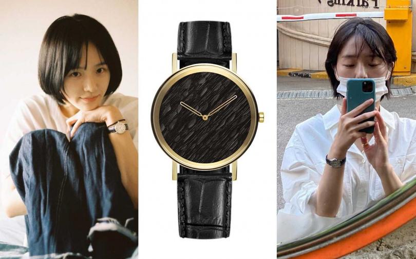 ZuWATCH黑羽Raven腕錶/8,060元(圖/品牌提供、翻攝朴珪瑛IG)