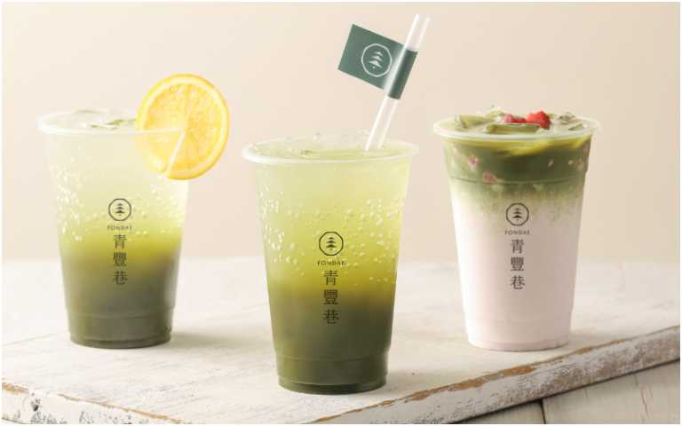 抹茶系列飲品。(圖/青豐巷提供)