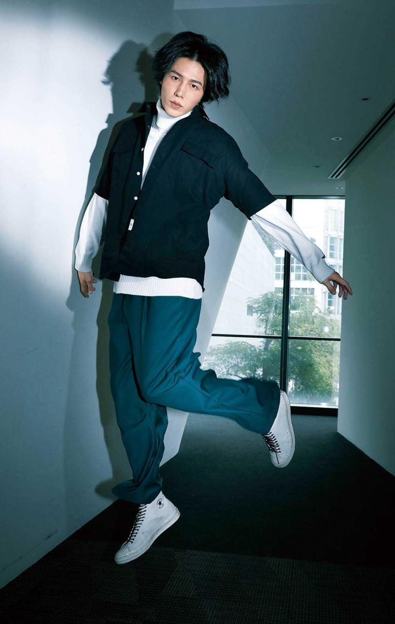 身高182公分的林禹,外型條件很吃香。(攝影/戴世平)