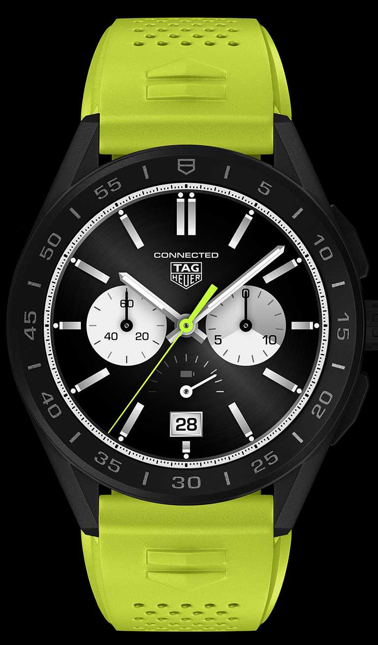 TAG Heuer「Connected」智能腕錶(編號SBG8A80.BT6274)╱77,400元。(圖╱TAG Heuer提供)