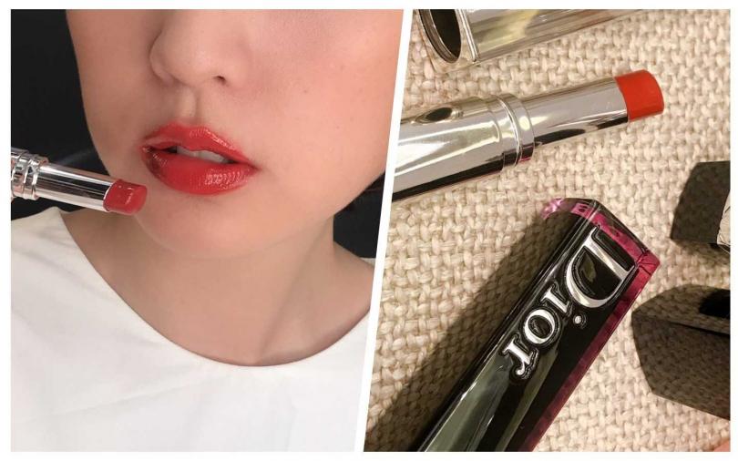 櫃姐說買得到它要靠運氣。Dior癮誘超模漆光唇釉#740/1,300元。