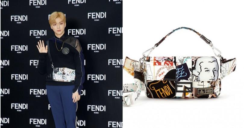 姜丹尼爾出席活動特別背上時尚花美男型包款,潮男稱霸!FENDI男士BAGUETTE REGULAR/77,000 元。(圖/FENDI提供)