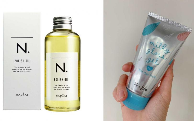 這兩瓶都是來自日本,被髮型師大推很適合抓出微濕感線條的輕盈系髮品。(圖/翻攝網路、吳雅鈴攝影)