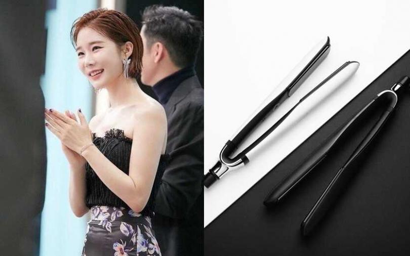 仔細看劉寅娜的髮根並不會平貼頭皮,有保留適度蓬感。(圖/翻攝網路、IG@ghd_taiwan)